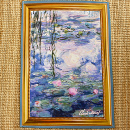 Monet Nympheas Tea Towel Made in France