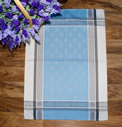Vaucluse Blue Jacquard TeaTowel Made in France