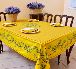Nyons Yello French Tablecloth 155x200cm 6 Seats Made in France