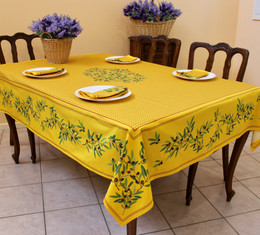 Nyons Yellow French Tablecloth 155x300cm 10Seats  Made in France