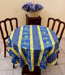 Cicada French Tablecloth Round 150cm diameter Made in France