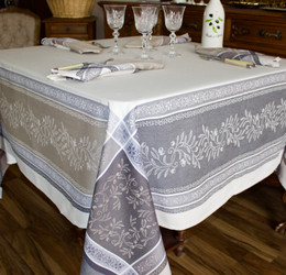 Olivia Lin 160x160cm SquareJacquard French Tablecloth Made in France