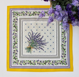Lauris Yellow Serviette Napkin Made in France
