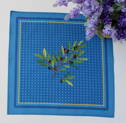Nyons Blue Serviette Napkin Made in France