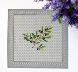 Nyons Grey Serviette Napkin Made in France