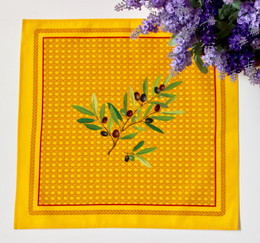 Nyons Yellow Serviette Napkin Made in France