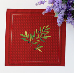 Nyons Red  Serviette Napkin Made in France