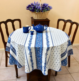 Marat Avignon Tradition White French Tablecloth Round 150cm diameter Made in France