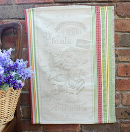Basilic Jacquard Tea Towel Made in France