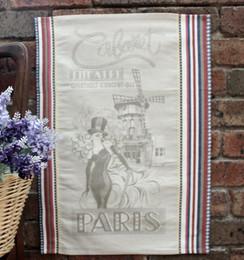 Cabaret Jacquard Tea Towel Made in France