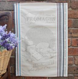 Camembert Jacquard Tea Towel Made in France