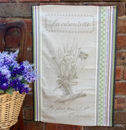 Ciboulette Jacquard Tea Towel Made in France