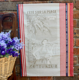 Cote D'Azur Jacquard Tea Towel Made in France