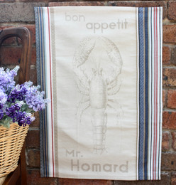 Homard Jacquard Tea Towel Made in France