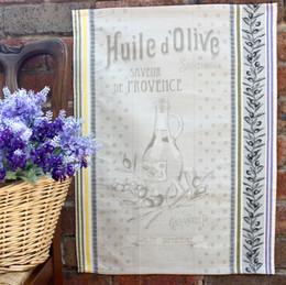 Picholine Jacquard Tea Towel Made in France