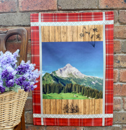 Alpine Red Tea Towel Made in France