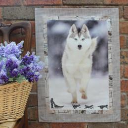 Husky Tea Towel Made in France