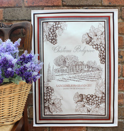 Bordeaux French Tea Towel Made in France