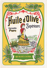 Huile d'Olive Tea Towel Made in France