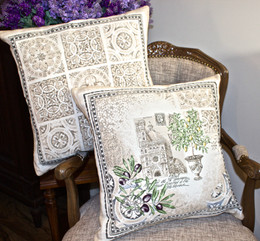 Riviera French Jacquard Cushion Cover Made in France