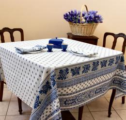 Marat Avignon Bastide White Square 150x150cm COATED Tablecloth Made in France