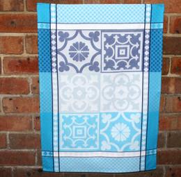Marius Blue Jacquard Tea Towel Made in France