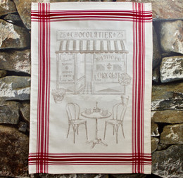 Chocolatier Jacquard Tea Towel Made in France