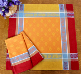 Vaucluse Carmen French Jacquard Napkin Made in France