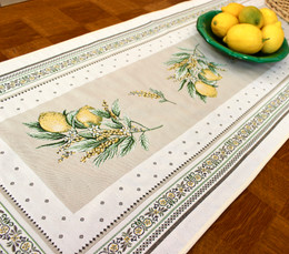 Menton 49x160cm French Thick Jacquard Tapestry Style Runner Made in France