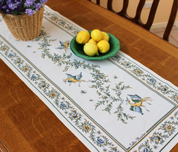 Moustiers 48x170cm French Thick Jacquard Tapestry Style Runner Made in France