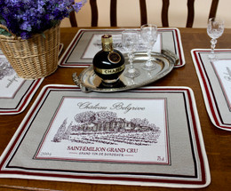 Bordeaux Jacquard Tapestry Style Placemat Made in France