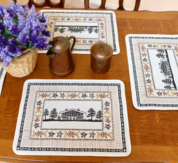 Chalet Jacquard Tapestry Style Placemat Made in France