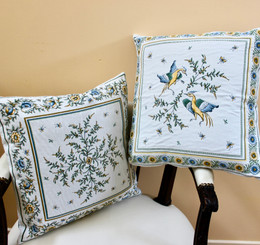 Moustiers Double Sided French Jacquard Cushion Cover Made in France
