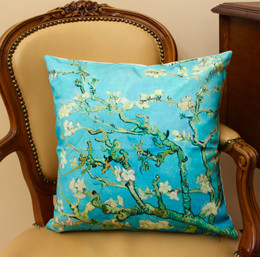 Van Gogh Almond Blossom French Cushion Cover Made in France