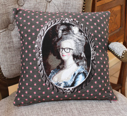 Marie Antoinette Grey Double Sided French Jacquard Cushion Cover Made in France