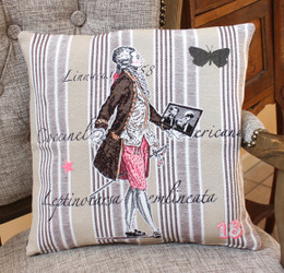 Versaille Double Sided French Jacquard Cushion Cover Made in France