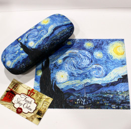 Vincent Van Gogh Starry Night Hard Glasses Case with Microfibre Cloth