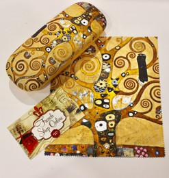 Gustav Klimt Tree of Life Hard Glasses Case with Microfibre Cloth
