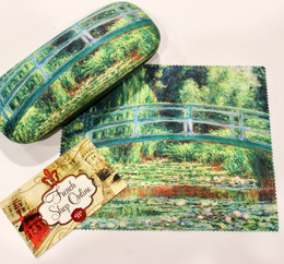 Claude Monet Water Lilies and Japannese Bridge Hard Glasses Case with Microfibre Cloth