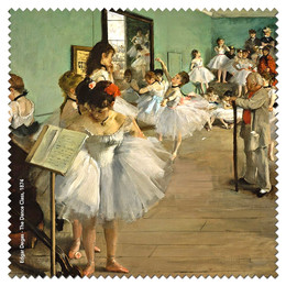 Edgar Degas The Dance Class Microfiber Cleaning Cloth Made in France