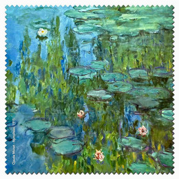 Claude Monet Nymphas Microfiber Cleaning Cloth Made in France