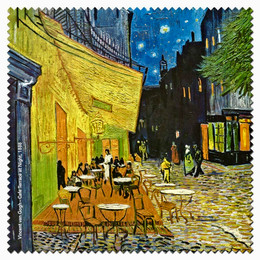 Vincent Van Gogh Cafe Terrace at Night Microfiber Cleaning Cloth Made in France