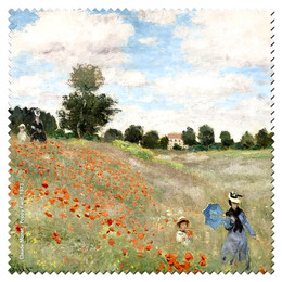 Claude Monet Poppy Field Microfiber Cleaning Cloth Made in France