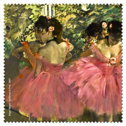 Edgar Degas Ballerinas in Pink  Microfiber Cleaning Cloth Made in France
