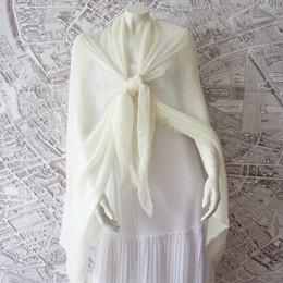 French Riviera  Ivory Shawl-Sarong-Wrap