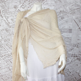 French Riviera Champagne Beige Shawl-Sarong-Wrap