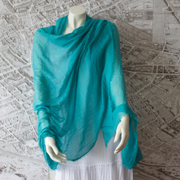 French Riviera Turquoise Shawl-Sarong-Wrap