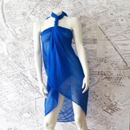 French Riviera Royal Blue Shawl-Sarong-Wrap