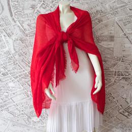 French Riviera Rose Red Shawl-Sarong-Wrap