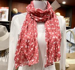 Wrinkle Scarf Polka Pink